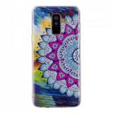 Cumpara ieftin Carcasa Husa Samsung Galaxy A6 2018 Model Mandala, Fosforescent, Antisoc + Folie sticla securizata Samsung Galaxy A6 2018 Tempered Glass Viceversa