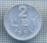AX 718 MONEDA- ROMANIA - 2 LEI -ANUL 1951 -STAREA CARE SE VEDE