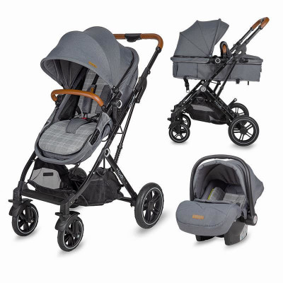 Carucior 3 in 1 ultracompact Coccolle Ravello Urban Grey foto