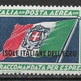 Insulele Egee 1933, Nestampilat
