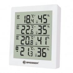 Statie meteo Bresser, termometru, higrometru, 3 senzori externi, Alb