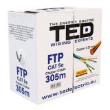 Cablu FTP Generic KAB-TED8 Cat 5E 0.52mm 305m Cupru