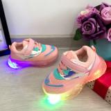 Cumpara ieftin Adidasi textili roz cu lumini LED beculete pt fetite - bebelusi mar 22, Fete
