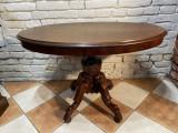 Masa ovala de salon neo-baroc secXIX