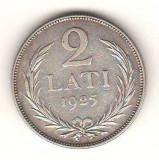 SV * Letonia / Latvijas Republika  2  LATI  1925 * ARGINT .835          VF+, Europa