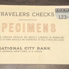 Travellers Cheque SPECIMEN SET First Bank