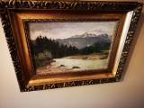 Cumpara ieftin Tablou autentic Baro Mednyanszky Laszlo, Peisaje, Ulei, Impresionism
