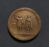 1928 Medalie Dobrogea Regele Carol I - Ferdinand - Mihai Reintegrarea Dobrogei
