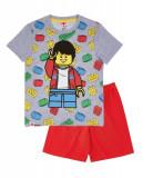 Pijamale maneca scurta Lego gri, 4 ani, 104 cm