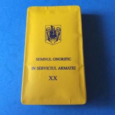 DECORATIE - MEDALIE - SEMNUL ONORIFIC IN SERVICIUL ARMATEI XX - SUBOFITERI