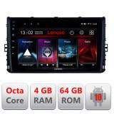 Navigatie dedicata VW 2DIN 2018- E-933 Octa Core cu Android Radio Bluetooth Internet GPS WIFI DSP 4+64GB 4G CarStore Technology