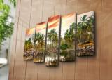 Tablou decorativ canvas (5 Piese) Horizon, 237HRZ4257, Multicolor