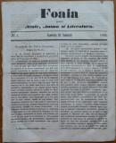 Foaia pentru minte , inima si literatura , nr. 3 , 1862 , Brasov , I. Muresanu