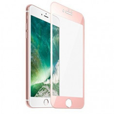 Folie Protectie Ecran Apple iPhone 7 (4,7inch ) Tempered Glass Rose Gold FULL