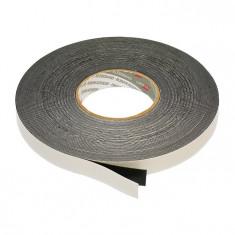 Banda dublu adeziva buretoasa, neagra, 0.8 mm pentru interior exterior