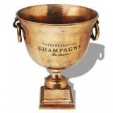 Frapieră pentru șampanie, model cupă trofeu, maro, vidaXL