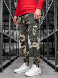 Pantaloni training cargo bărbați camuflaj-kaki Bolf 1005