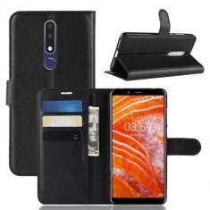 Husa Flip Cu Stand Nokia 3,1 Plus 2018 Neagra