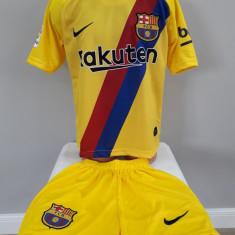 Echipament fotbal pt copii FC.Barcelona Messi model nou galben  2019-2020