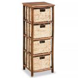 Dulap cu sertare, bambus și zambilă de apă, 36x33x102 cm