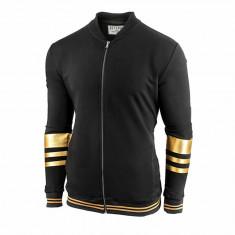 Bluza pentru barbati neagra cu fermoar. slim fit DoubleChamp