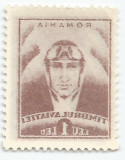 România, LP VII.3b/1932, Pilot - Timbrul aviaţiei, abklatsch, eroare, MNH