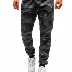 Pantaloni de training bărbați camuflaj-grafit Bolf KZ15