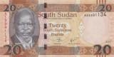 SUDAN DE SUD █ bancnota █ 20 Pounds █ 2017 █ P-13c █ UNC █ necirculata
