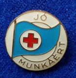Insigna Donator Onorific - CRUCEA ROSIE Medicina Sanitare Donator de sange #21
