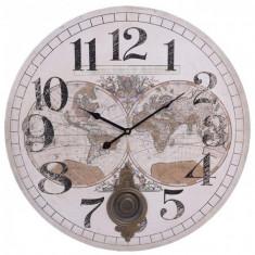 Ceas de perete din lemn cu pendul Atlas D- 58 cm