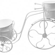 Bicicleta decorativa FERONYA cu 2 ghivece mici pentru flori MN011621 Raki