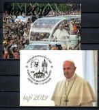 ROMANIA 2019 - VIZITA APOSTOLICA A PAPEI FRANCISC LA IASI. 2 ILUSTRATE MNH, S6, Necirculata, Fotografie