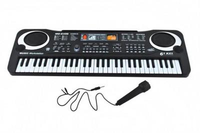 Orga electronica cu microfon, 61 clape, 10 ritmuri, 8 sunete de tamburine foto