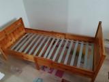Cadru de pat 80x200 Ikea, din lemn (pin) cu aspect antichizat