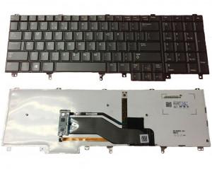 Tastatura Dell Latitude E6520 iluminata cu mouse pointer US