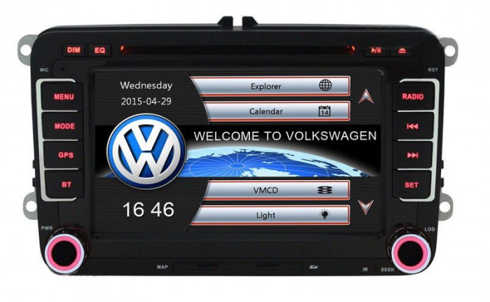 Unitate Multimedia cu Navigatie Audio Video cu DVD BT si WiFi Volkswagen VW Golf Plus + Card 8Gb cu Soft GPS si Harti GRATUITE