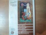 SCURTA ISTORIE A CARTII ROMANESTI de DAN SIMONESCU , GHEORGHE BULUTA , 1994
