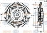 Vascocuplaj / Cupla ventilator radiator MERCEDES SPRINTER 2-t platou / sasiu (901, 902) (1995 - 2006) HELLA 8MV 376 758-441