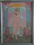 Doua tablouri cu nuduri , pictate , 80 lei fiecare, Nud, Acrilic, Miniatural