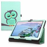 Husa pentru Huawei MediaPad T3 10, Piele ecologica, Multicolor, 42651.06