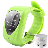 Ceas Smartwatch GPS Copii iUni U11,Telefon incoporat, Alarma SOS, Green + Boxa Cadou, Verde