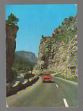 CPIB 17165 CARTE POSTALA - CHEILE BICAZULUI, AUTOTURISM, Circulata, Fotografie
