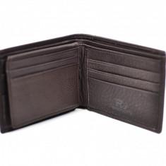 Portofel barbati din piele naturala , de culoare maro - 10051FDBRN