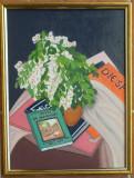 Tablou pictat FLORI DE SALCAM , 30/40 cm, Acrilic, Realism