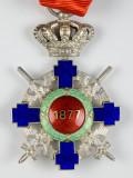 Ordinul / Decoratia Steaua Romaniei tip2, Cavaler, de razboi