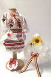 Cumpara ieftin Set Traditional Botez Fetita - Costumas + Lumanare 5