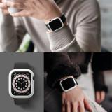 Cumpara ieftin Husa Ceas Apple Watch 4/5/6 44 MM RINGKE Transparent+Alb