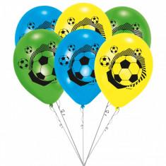 Buchet din baloane latex asortate Fotbal Party cu heliu, Amscan BB.414100