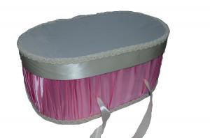 Cutie eleganta pentru botez-NN CEB9BR, Roz