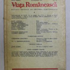 VIATA ROMANEASCA , REVISTA EDITATA DE UNIUNEA SCRIITORILOR , ANUL XXXIV , NR. 11 , NOIEMBRIE , 1981
